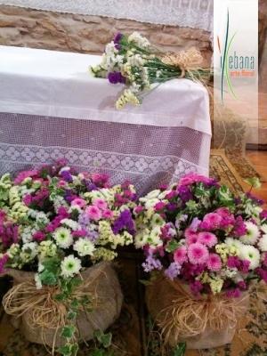 Centros de flor variada