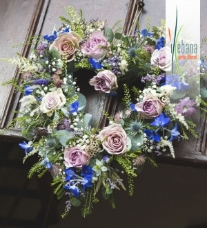 Corazon flores vintage