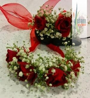 Pulseras de rosas