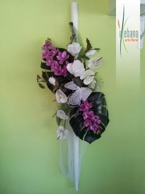 Vela con flores
