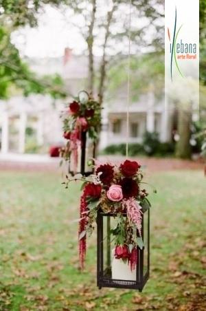 Faroles con flores
